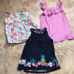 Girl's size 6 set of 3 sleeveless tops.